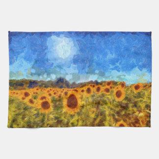 Linge De Cuisine Tournesols d'été de Van Gogh