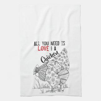 Linge De Cuisine Tout que vous avez besoin est amour et une