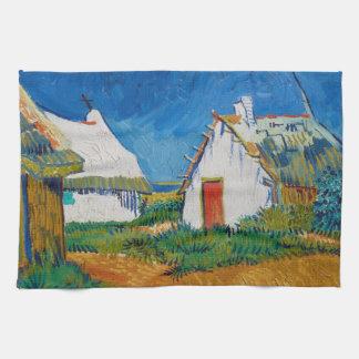 Linge De Cuisine Trois cottages blancs dans Saintes-Maries par