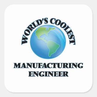 L'ingénieur de fabrication le plus frais du monde autocollant carré