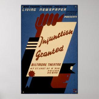 L'injonction a accordé à A1936 le cru vivant de Posters