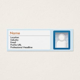 LinkedIn - maigre Mini Carte De Visite