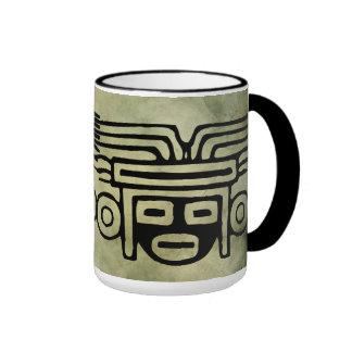linocut tribal africain antique de symboles mug à café