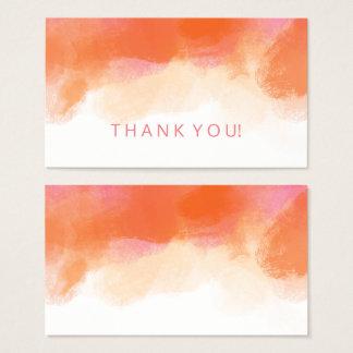 L'insertion de Merci rougissent aquarelle de Cartes De Visite