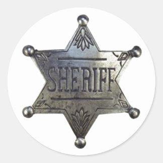 L'insigne du shérif sticker rond