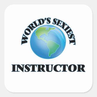 L'instructeur le plus sexy du monde sticker carré