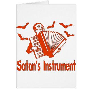 L'instrument de Satan Carte De Vœux