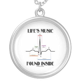 L'intérieur trouvé par musique de la vie pendentif rond