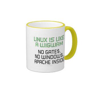 Linux est comme un tipi. Aucunes portes, aucunes Mug Ringer