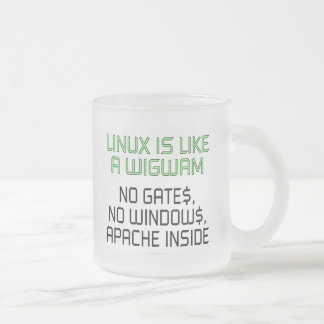 Linux est comme un tipi. Aucunes portes, aucunes Tasse Givré