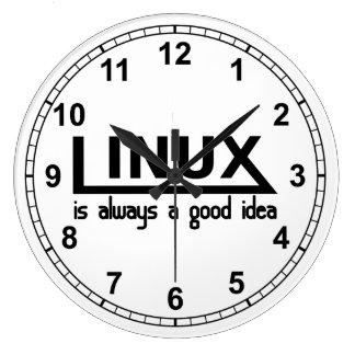 Linux Grande Horloge Ronde