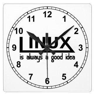 Linux Horloge Carrée