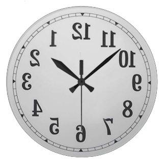 L'inverse numérote l'horloge murale grande horloge ronde