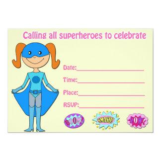 L'invitation d'anniversaire de super héros de carton d'invitation  12,7 cm x 17,78 cm