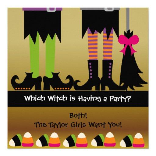 L'invitation de fête d'anniversaire de Halloween d