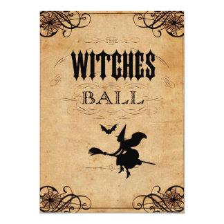 L'invitation de partie de Halloween de boule de
