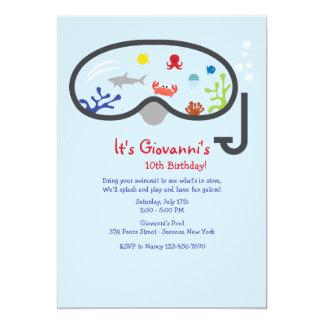 L'invitation des enfants de masque de prise d'air carton d'invitation  12,7 cm x 17,78 cm