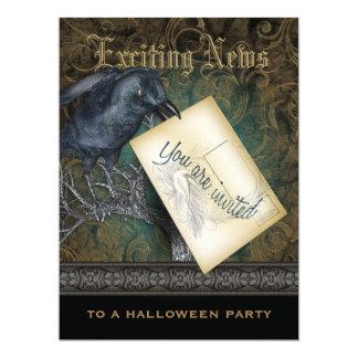 L'invitation gothique de style de Raven Carton D'invitation 16,51 Cm X 22,22 Cm