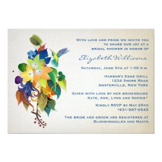 L'invitation nuptiale de douche de colibri carton d'invitation  12,7 cm x 17,78 cm