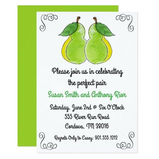 L'invitation nuptiale de douche de paires carton d'invitation  12,7 cm x 17,78 cm