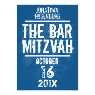 L'invitation toute de Mitzvah de barre de groupe Carton D'invitation 12,7 Cm X 17,78 Cm