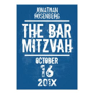 L'invitation toute de Mitzvah de barre de groupe d