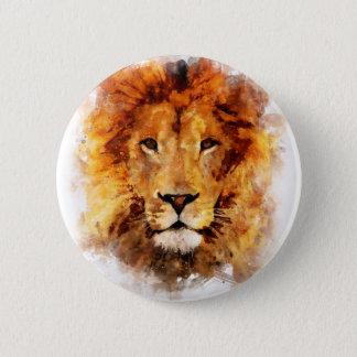 Lion Aquarelle Badge