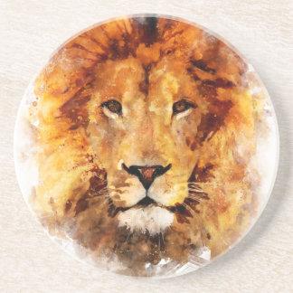 Lion Aquarelle Dessous De Verres