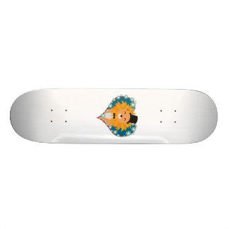 Lion avec le casquette au coeur Zdjpd de fleur Planches À Roulettes Customisées