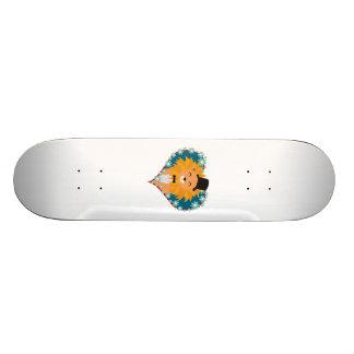 Lion avec le casquette au coeur Zdjpd de fleur Skateboards Personnalisables