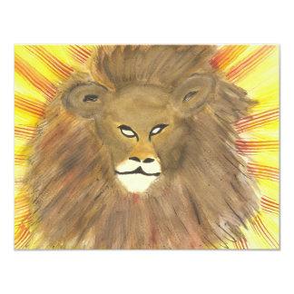 Lion Cartons D'invitation