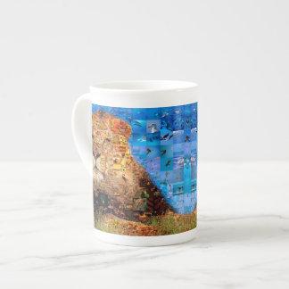 lion - collage de lion - mosaïque de lion - lion mug