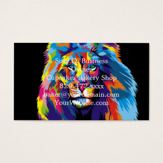 Lion coloré cartes de visite