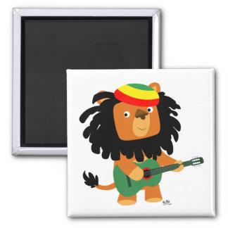 Lion d'aimant de Zion Magnet Carré