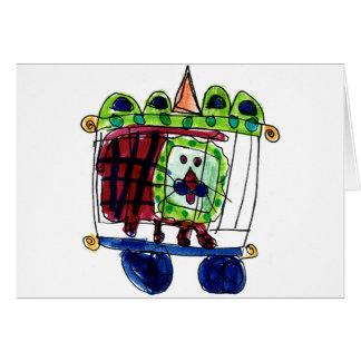 Lion de cirque • Daneille Brito, âge 6 Cartes De Vœux