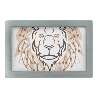 Lion de flèche boucles de ceinture rectangulaires