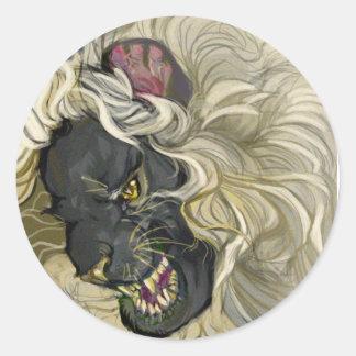 Lion de gardien sticker rond