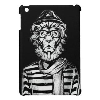 Lion de hippie noir et blanc coque iPad mini
