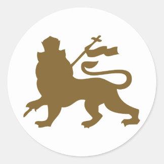 Lion de Judah Sticker Rond