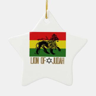 Lion de Judah Ornement Étoile En Céramique