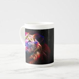 Lion de l'espace - lion coloré - art de lion - mug