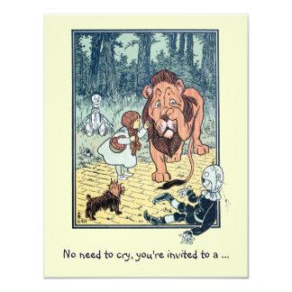 Lion de magicien d'Oz, invitation de fête