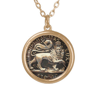 Lion de Rasta de finition pendante d'or de Judah Collier Plaqué Or