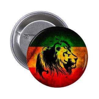 Lion de Rasta de reggae Badge Rond 5 Cm