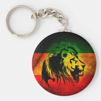Lion de Rasta de reggae Porte-clé Rond