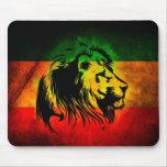 Lion de Rasta de reggae Tapis De Souris