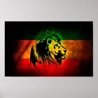 Lion de Rasta Posters