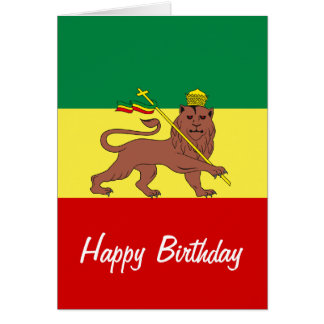 Lion de reggae de Rasta de Judah Cartes