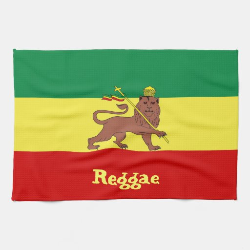 Lion de reggae de Rasta de Judah Serviettes Éponge