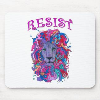 Lion de résistance tapis de souris